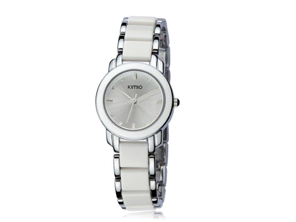 Elegantní dámské hodinky Kimio stříbrné - bílé - Elegans.cz 248baff0d0