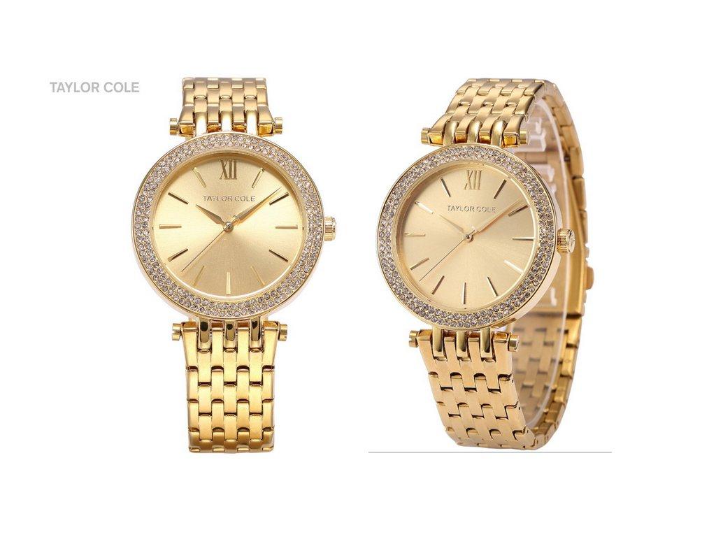 1b1c691c5 ... Atraktivní dámské hodinky Taylor Cole Aglaia - zlaté ...