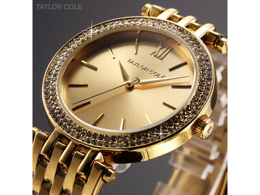 7a597b196 Atraktivní dámské hodinky Taylor Cole Aglaia - zlaté ...