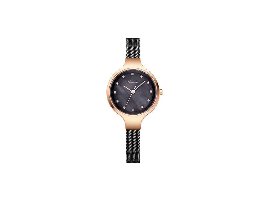 Atraktivní dámské hodinky zn. Kimio - černé - Elegans.cz d4600b891c