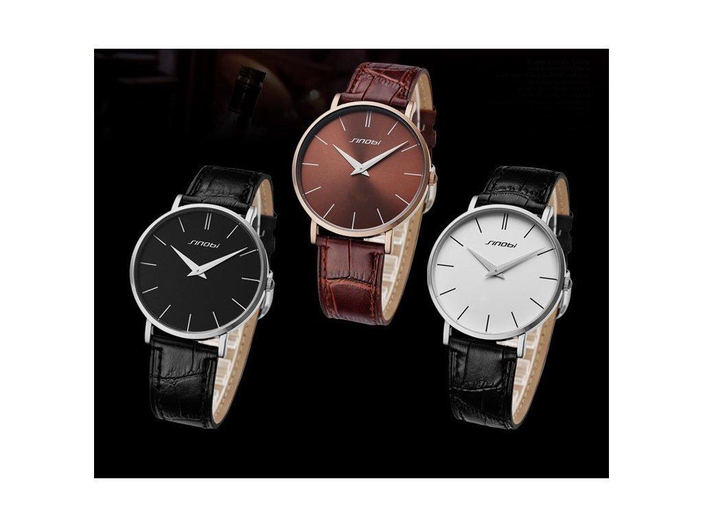 7ab4dd0cf84 Módní hodinky Sinobi ultra tenké - černé - Elegans.cz