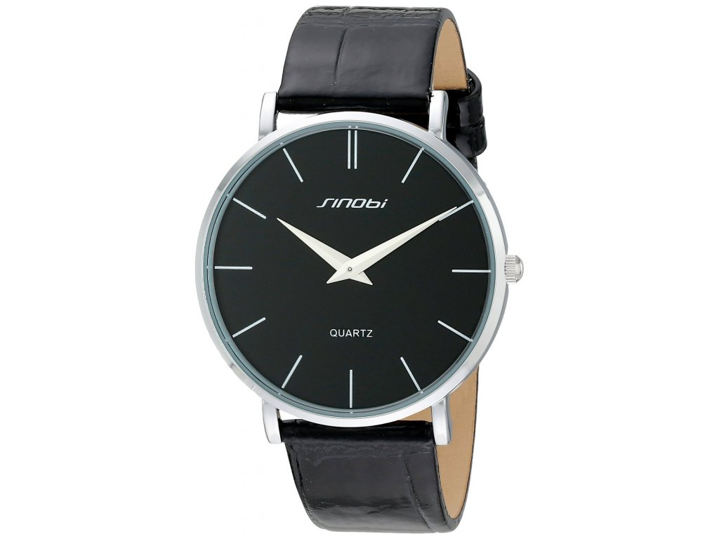 Módní hodinky Sinobi ultra tenké - černé - Elegans.cz 0857542b64d