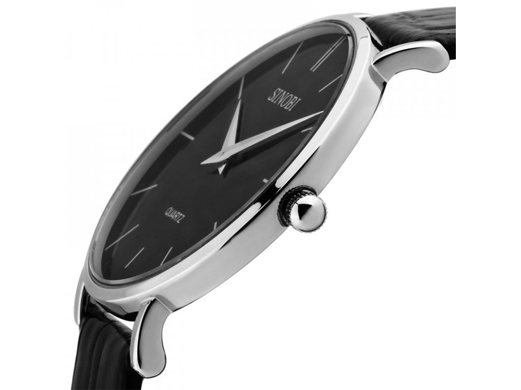 Módní hodinky Sinobi ultra tenké - černé - Elegans.cz 33edeb9aaf1