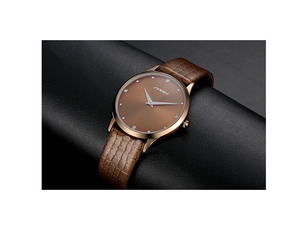 Módní hodinky Sinobi ultra tenké dámské - medové - Elegans.cz 73e5a0eca25