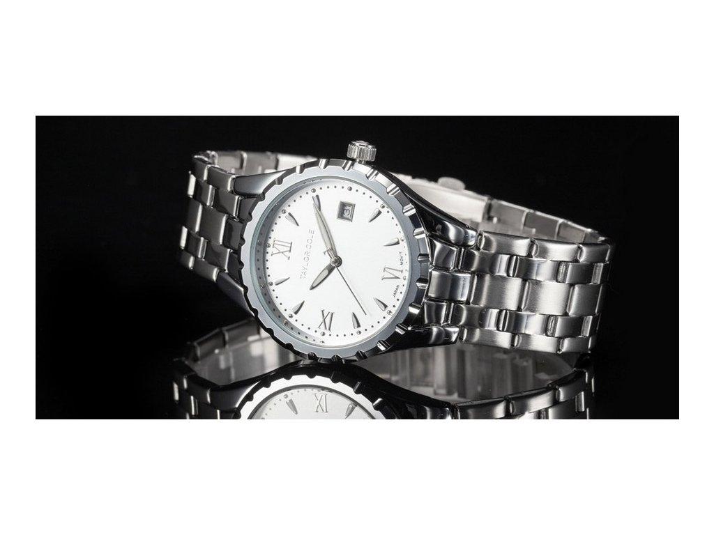 db50da63d Atraktivní dámské hodinky Taylor Cole Aglaia stříbrné s datumem ...