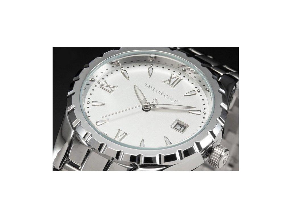 5c145a3e9 ... Atraktivní dámské hodinky Taylor Cole Aglaia stříbrné s datumem ...