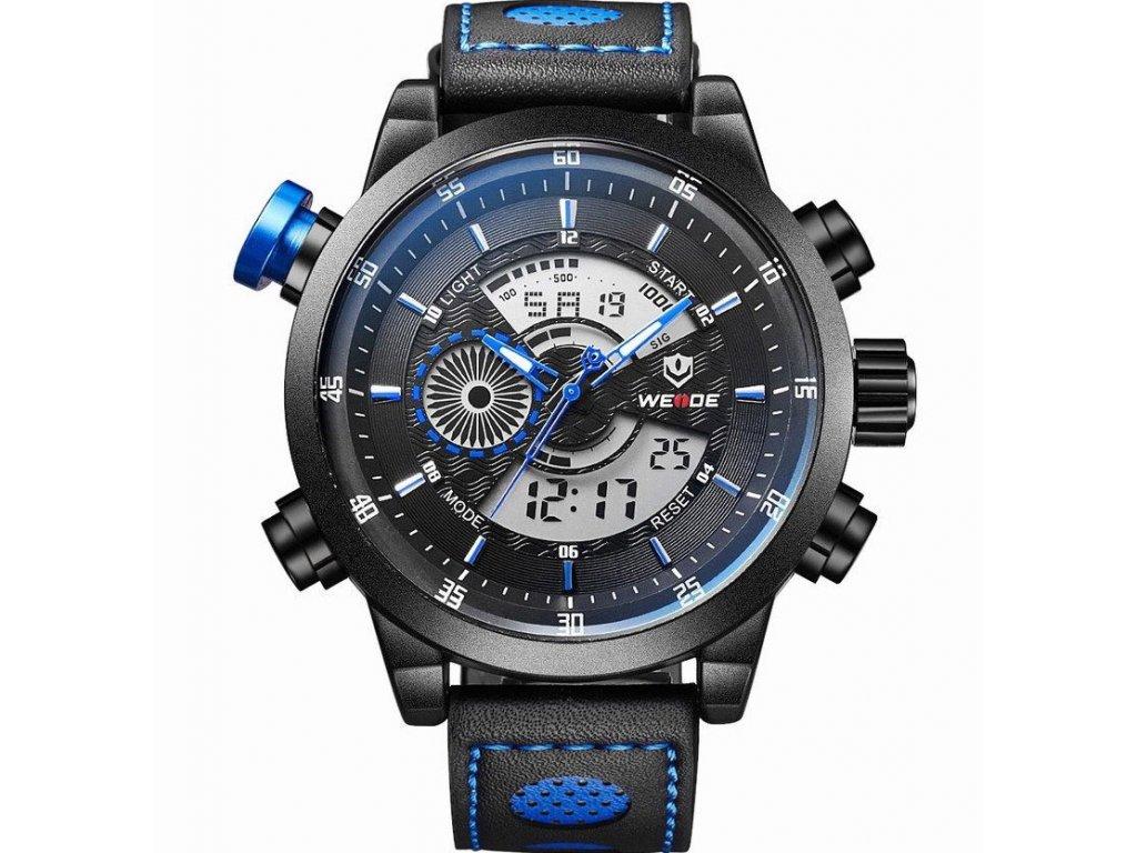 Atraktivní hodinky Weide WH3401 modré - duální čas b97ce9eea6