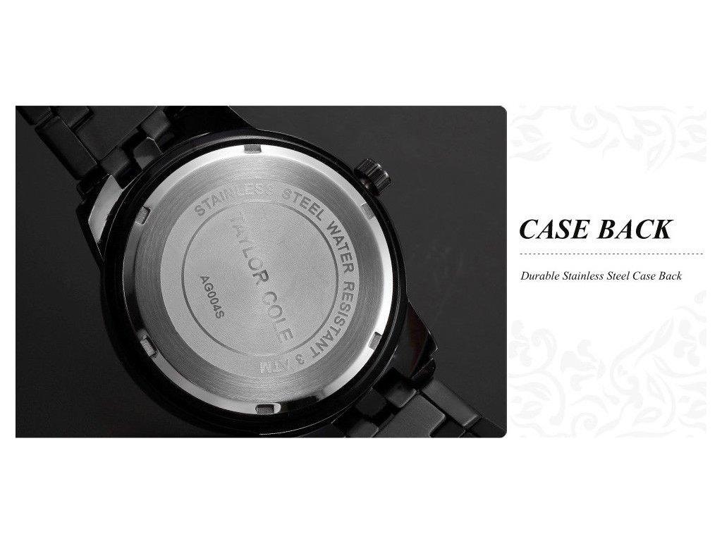 ... Atraktivní dámské hodinky Taylor Cole Aglaia zlato-černé s datumem ... f9429ce7f5