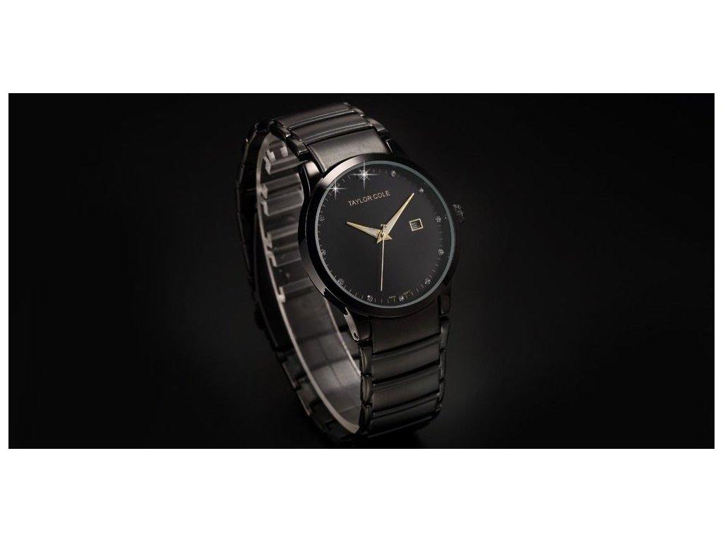 9ca6c29db3e ... Atraktivní dámské hodinky Taylor Cole Echo s datumem - černé ...