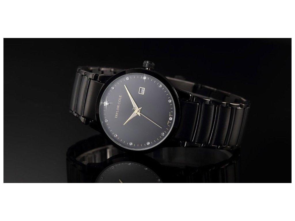 bd3ccb03c ... Atraktivní dámské hodinky Taylor Cole Echo s datumem - černé ...