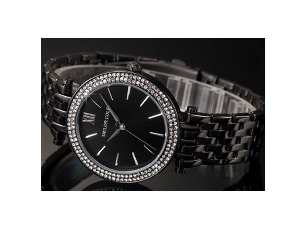 Atraktivní dámské hodinky Taylor Cole Aglaia - černé - Elegans.cz c6620c95e7