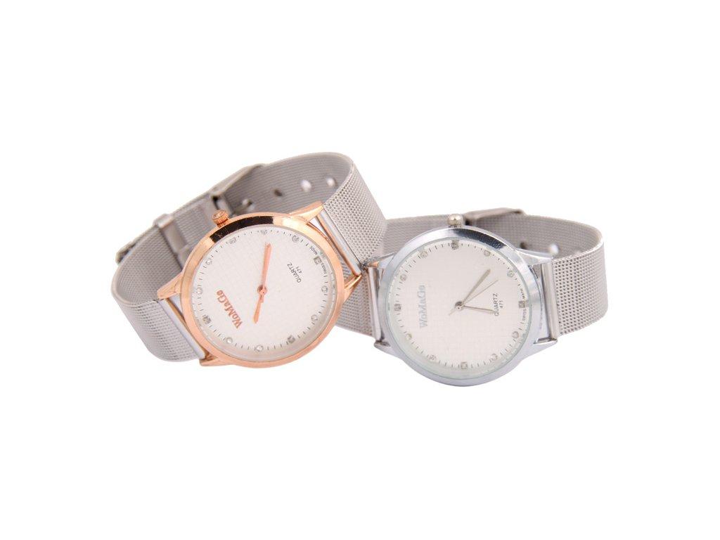 a92b8379a37 ... Elegantní dámské hodinky zn. WoMaGe - tenké větší s růžovým zlatem ...