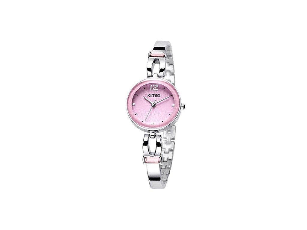 Elegantní dámské hodinky Kimio Sweet stříbrné - růžové - Elegans.cz f71c7bf8ac