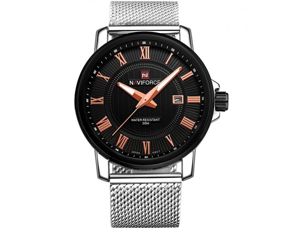 Atraktivní hodinky Naviforce 9052 s datumem - černé - Elegans.cz 07a2242bcc