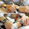 Atraktivní dámské hodinky ultra tenké zn. Sinobi - hnědé
