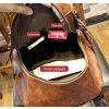 Kožený unisex batoh vel. XL - hnědý, objem až 35 litrů