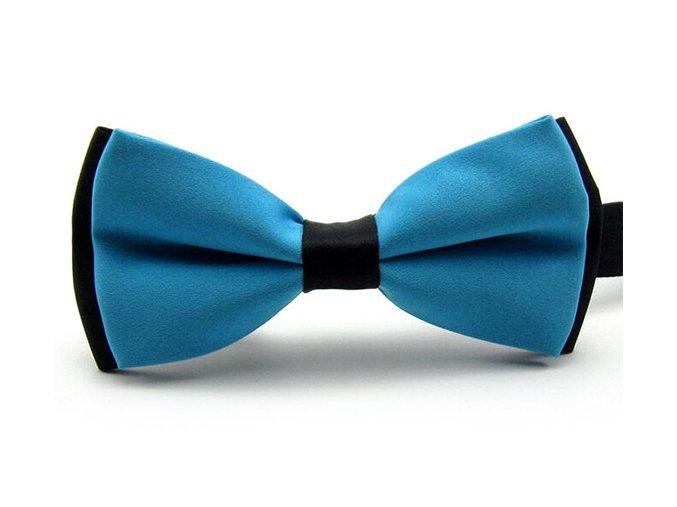 Pánský motýlek dvoubarevný - modrý