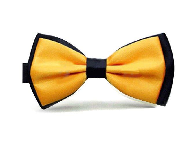 Pánský motýlek dvoubarevný - žlutý