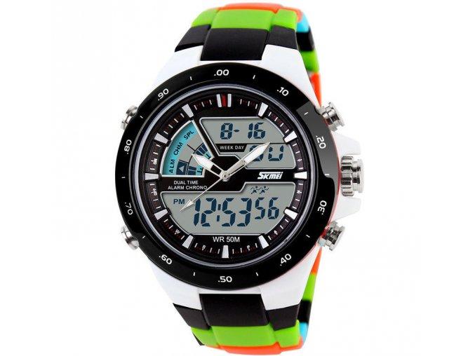 Sportovní hodinky Skmei barevné z PU - čas, kalendář, alarm, chronograf