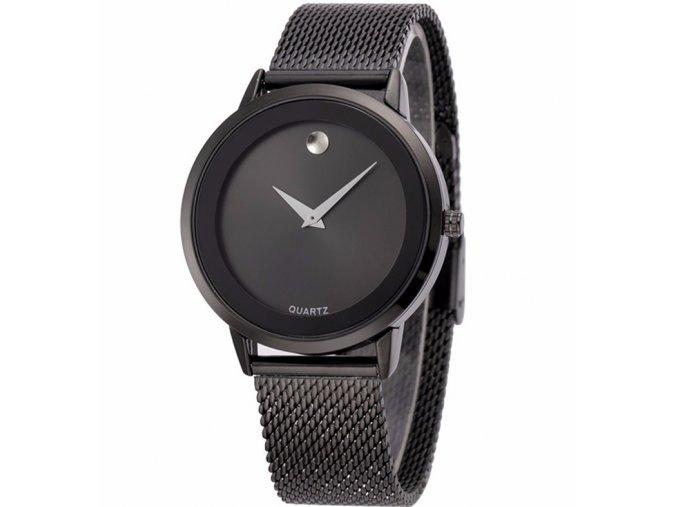 Atraktivní dámské hodinky velké zn. Belbi - černé
