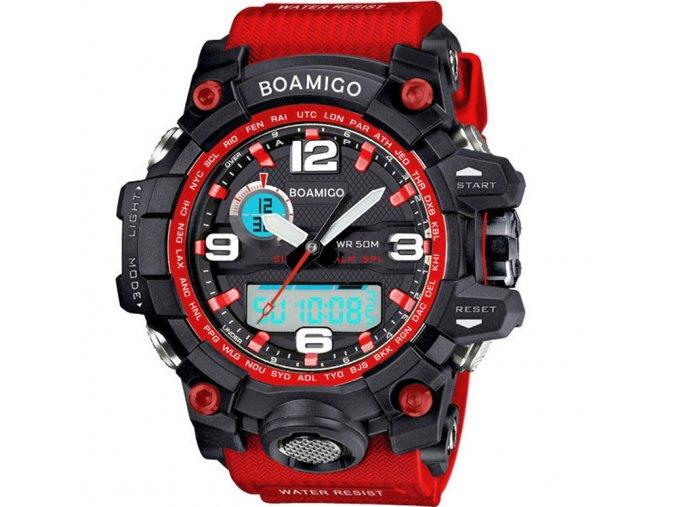 cervene sportovni hodinky