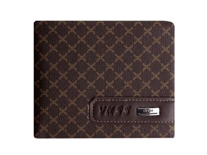 Unisex peněženka Ykss krátká na šířku - tmavá