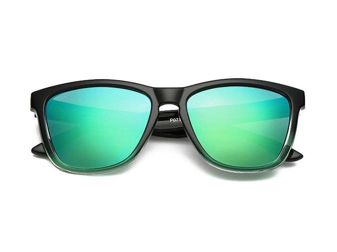 slunecni bryle modro zelene polarizacni