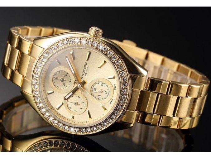 zlate hodinky damske ocelove kaminky taylor cole