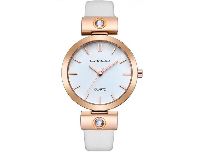 damske hodinky bile zlate