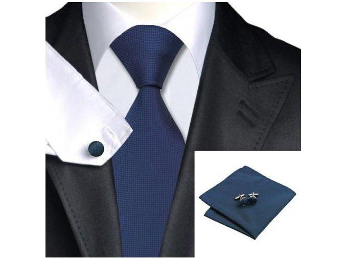 modry kravatovy set