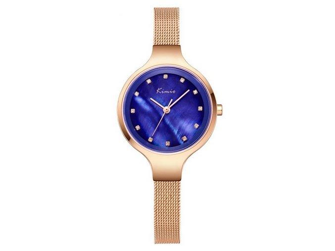 zlate modre damske male hodinky kimio