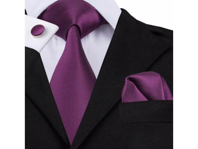 fialovy kravatovy set kravata fialova