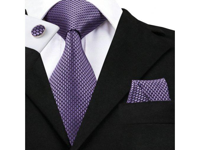 fialovy kravatovy set kravata
