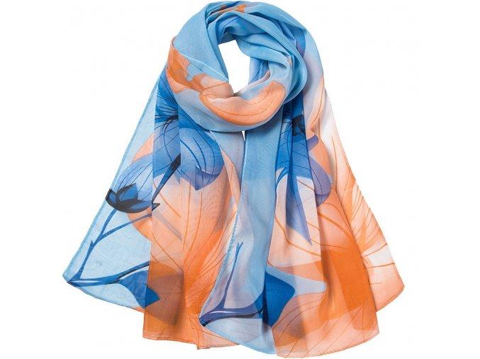 damsky satek modro oranzovy