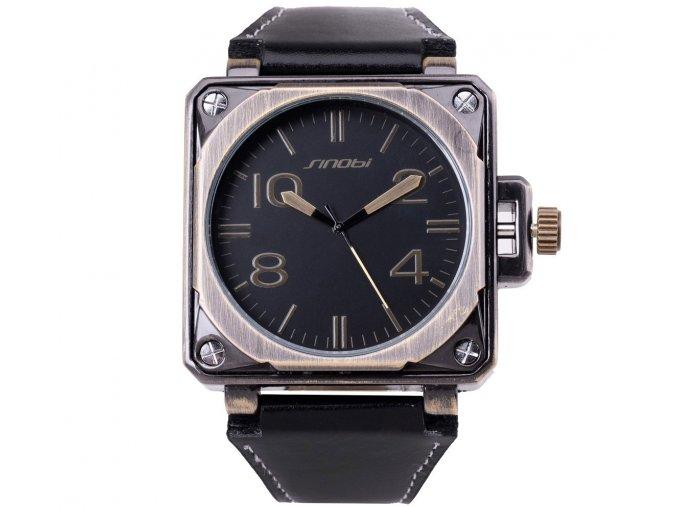 Atraktivní velké hodinky Sinobi v army vintage stylu