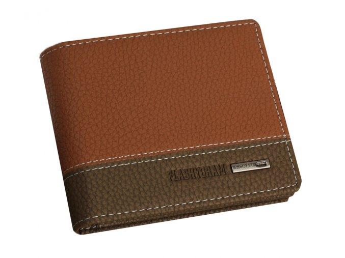 Pánská peněženka Flashygram malá - hnědo-cihlová