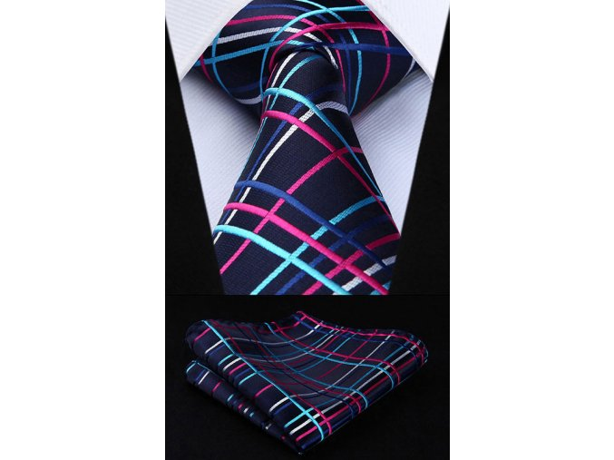 zarivy kravatovy set
