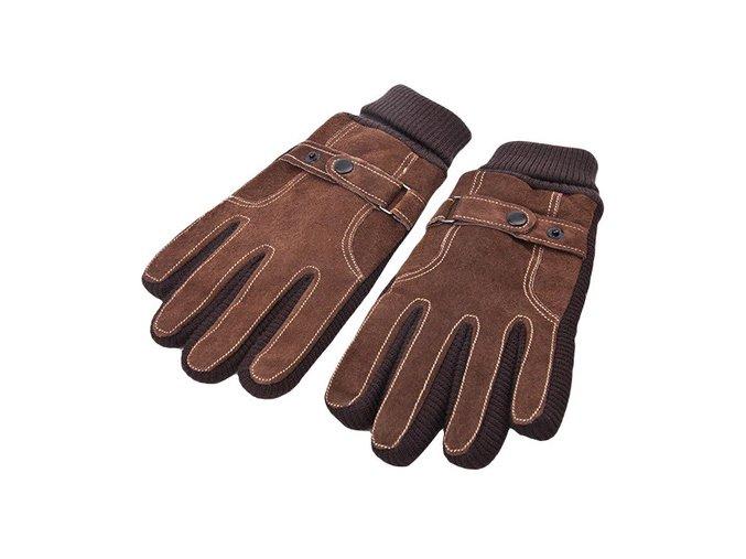 panske zimni rukavice kozene