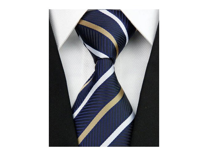 modra kravata zlata bila