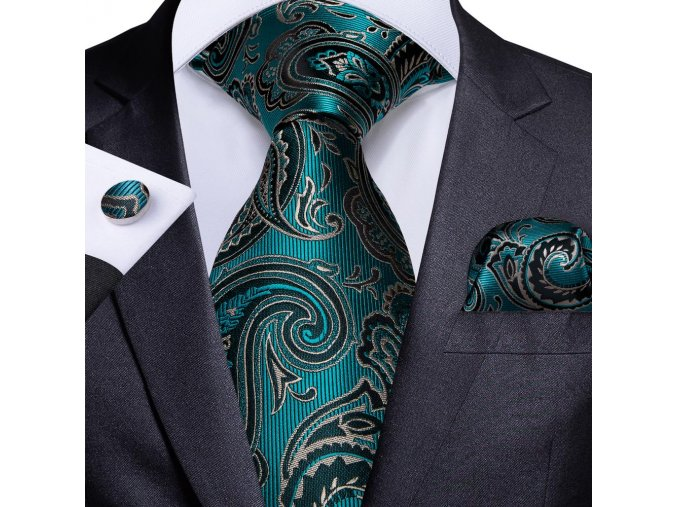 kravatovy set kravata elegantni modra svatebni