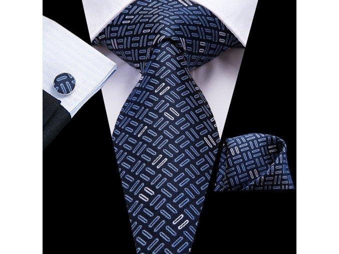kravata modra panska