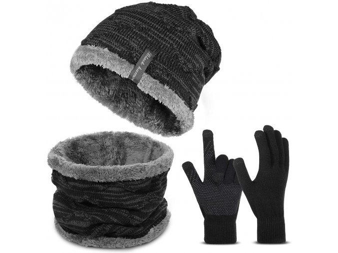 kvalitni zimni cepice sala rukavice sada