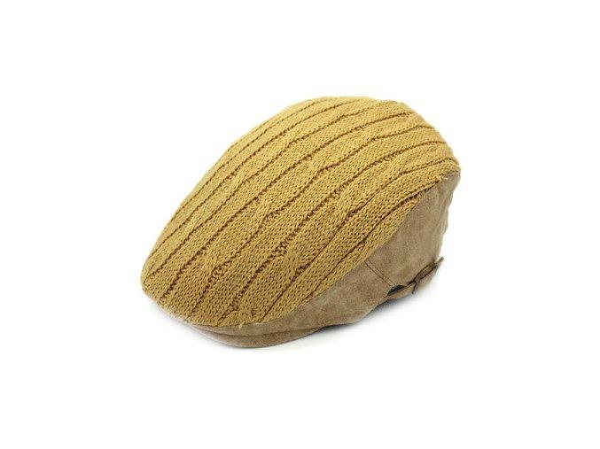 zluta cepice bekovka zimni pletena