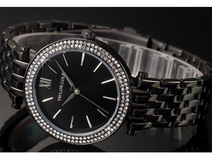Atraktivní dámské hodinky Taylor Cole Aglaia - černé