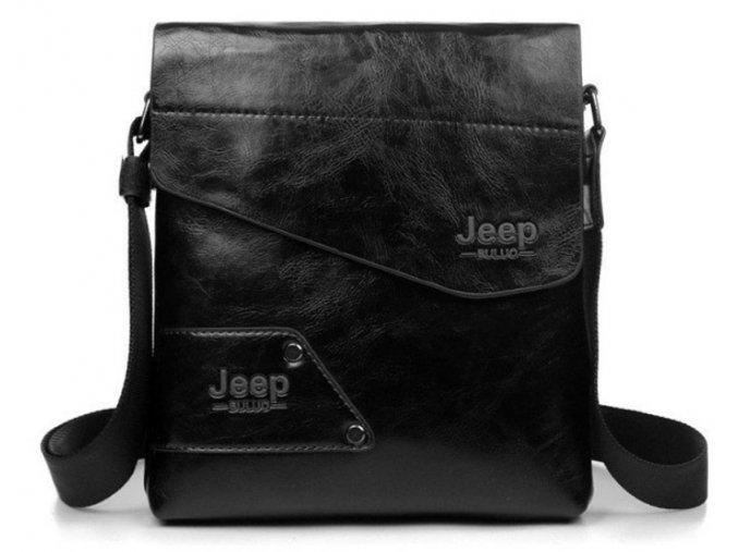 Crossbody taška z eko kůže Jeep vel. L - černá