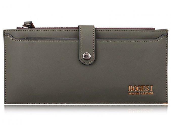 Pánská / unisex peněženka Bogesi dlouhá - khaki s organizérem