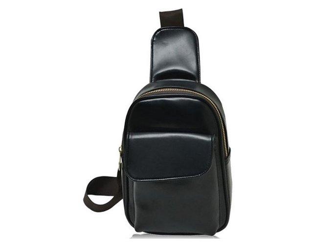 Kožený unisex batůžek - černý