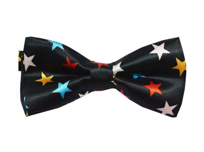 Pánský motýlek s barevnými hvězdami