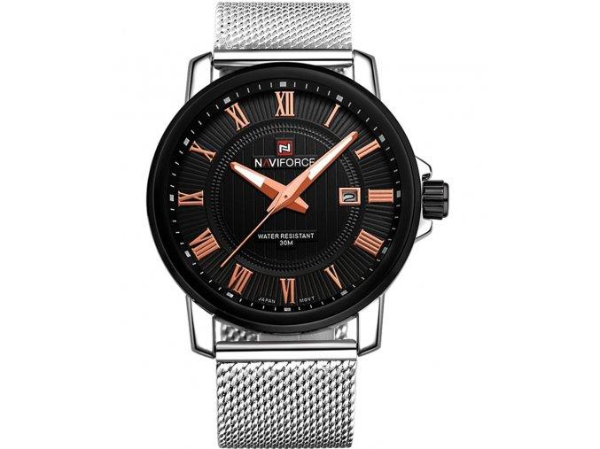 Atraktivní hodinky Naviforce 9052 s datumem - černé