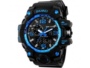 Sportovní hodinky Skmei odolné - čas, kalendář, alarm, chronograf - modré